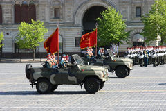 Victory parade. Soldiers on the Victory Parade. May 9th, 2009. Moscow. Red square Stock Images