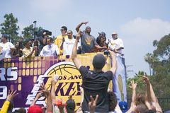 Victory parade for 2009 NBA Champion Royalty Free Stock Image