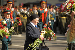 Victory parade 2012. Veterans of the Second World War on Victory parade in St. Petersburg, Russia, on May 9 2012 Stock Photography