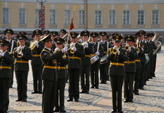 Victory Parade. Military Victory Parade which have passed on May, 9th, 2008 on Palace Square of St.-Petersburg, Russia Royalty Free Stock Photos