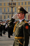 Victory parade. Military Victory Parade which have passed on May, 9th, 2008 on Palace Square of St.-Petersburg, Russia Stock Image