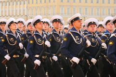 Victory parade. Military victory parade which have passed on May 9, 2008 on Palace Square of St.-Petersburg, Russia Royalty Free Stock Photography