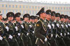 Victory parade. Military victory parade which have passed on May, 9th, 2008 on Palace Square of St.-Petersburg, Russia Stock Photos