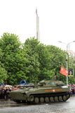 Victory Parade in Donetsk Militärparade eingeweiht der 70. Lizenzfreies Stockbild