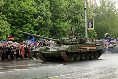 Victory Parade in Donetsk. Military parade dedicated to the 70th Stock Photos