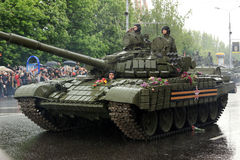 Victory Parade in Donetsk. Military parade dedicated to the 70th Royalty Free Stock Image