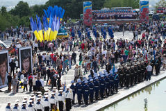 Victory parade in Kiev Ukraine. Royalty Free Stock Photos