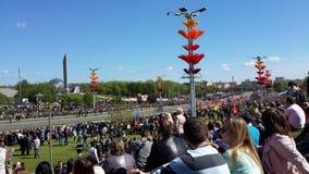 Victory Parade a Minsk Immagine Stock Libera da Diritti