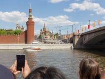 Victory Parade Moscow militaire Photos libres de droits