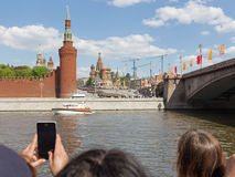 Victory Parade Moscow militar Fotos de Stock Royalty Free