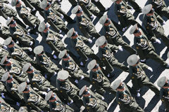 Victory Parade in Moscow Stock Images