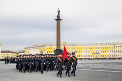 Victory parade on Palace Square in Saint Petersburg, April 28, 2 Stock Photos