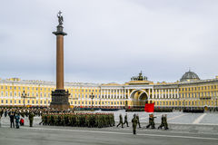 Victory parade on Palace Square in Saint Petersburg, April 28, 2 Stock Images