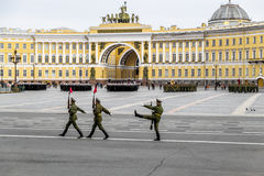 Victory parade on Palace Square in Saint Petersburg, April 28, 2 Royalty Free Stock Image
