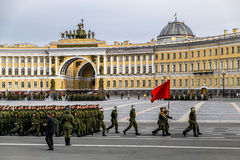 Victory parade on Palace Square in Saint Petersburg, April 28, 2 Stock Photo
