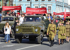 Victory parade in St.Petersburg Royalty Free Stock Images