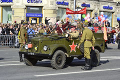 Victory parade in St.Petersburg Royalty Free Stock Photos