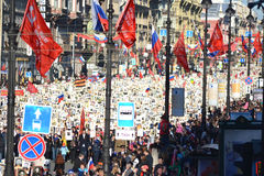 Victory parade in St.Petersburg. Royalty Free Stock Images