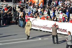Victory parade in St.Petersburg. Royalty Free Stock Photo