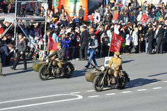 Victory parade in St.Petersburg. Stock Photos