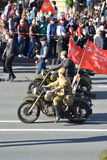 Victory parade in St.Petersburg. Royalty Free Stock Photography