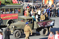 Victory parade in St.Petersburg. Stock Image