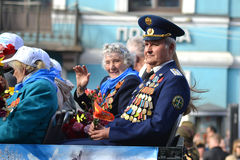 Victory parade in St.Petersburg Stock Photography