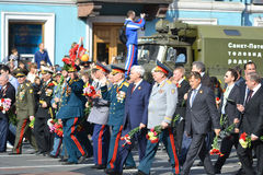 Victory parade in St.Petersburg Stock Images
