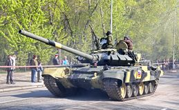 Victory parade 2012. YEKATERINBURG, RUSSIA - MAY 9: Main battle tank T-90S Vladimir exhibited at the annual Victory day Parade on May 9, 2012 in Yekaterinburg Stock Photos