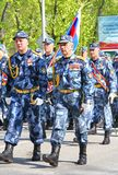 Victory parade 2012. YEKATERINBURG, RUSSIA - MAY 9: Soldiers of Federal Landdrost Service takes part at the annual Victory day Parade on May 9, 2012 in Stock Photos