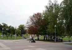 Victory Park i Voronezh Royaltyfri Fotografi
