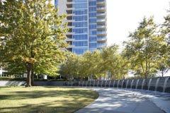 Victory Park in im Stadtzentrum gelegenem Dallas stockbilder