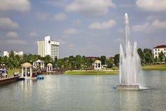 Victory Park in Maladzyechna belarus lizenzfreies stockfoto