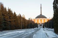 The Central Museum of the great Patriotic war of 1941-1945 in the Victory Park on Poklonnaya Gora. Moscow. Russia. Victory Park on Poklonnaya Gora is one of the Royalty Free Stock Image