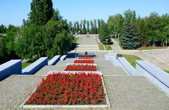 Victory Park in Saratov city Royalty Free Stock Photography