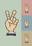 Victory or Peace Hand Sign Vector Illustration Royalty Free Stock Photo