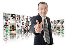 Victory or peace sign royalty free stock image