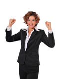 Victory of a Powerful Business Woman stock photo