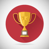 Victory Prize Award Symbol Trophy Cup Icon on Stock Photo