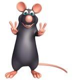 victory Rat cartoon character Royalty Free Stock Photos