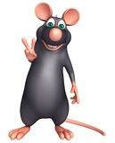 Victory Rat cartoon character Stock Images