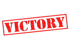 VICTORY. Red Rubber Stamp over a white background royalty free stock photography