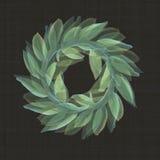 Victory Roman Laurel Wreath in un modello di ripetizione Immagini Stock