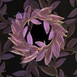 Victory Roman Lilac Laurel Wreath in un modello di ripetizione Fotografie Stock
