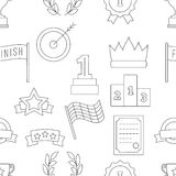 Victory seamless pattern. For web and printing on fabric Stock Photography