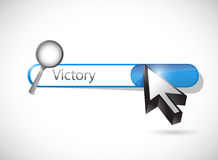 Victory search bar illustration design Royalty Free Stock Photos
