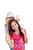 The victory sign Royalty Free Stock Photo