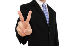 Victory sign Royalty Free Stock Photos