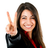 Victory sign Stock Images