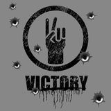 Victory sign Stock Photos